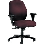 HON® HON7823NT69T 7800 Series Fabric Mid-Back Office Chair with Adjustable Arms, Wine