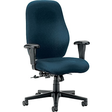 HON® HON7803NT90T 7800 Series Fabric High-Back Office Chair with Adjustable Arms, Mariner