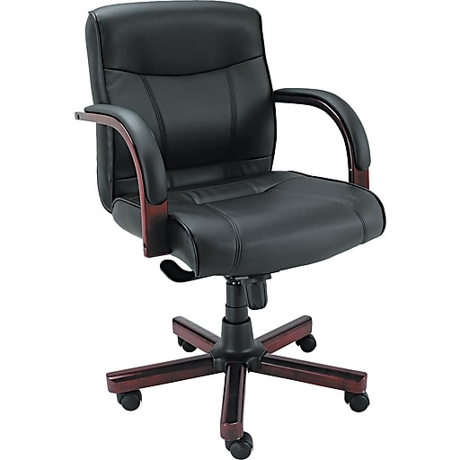 alera madaris leather managers office chair fixed arms black