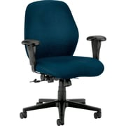 HON® HON7823NT90T 7800 Series Fabric Mid-Back Office Chair with Adjustable Arms, Mariner