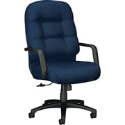 Pillow-Soft® HON® 2090 High-Back Fabric Executive Swivel/Tilt Chair, Blue