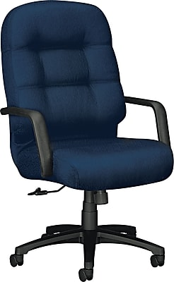 Pillow-Soft® HON® 2090 High-Back Fabric Executive Swivel/Tilt Chair, Blue
