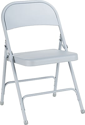 Alera Steel Folding Chairs Steel Conference, Light Gray