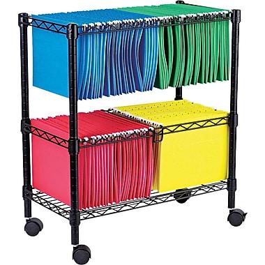 Alera® Wire Mobile File Carts Metal Mobile File, Black