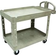 """Rubbermaid ® 33 1/4""""H x 25 7/8""""W x 45 1/4""""D Two Shelf Service Cart, Beige"""