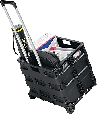 Safco STOW AWAY Folding Caddy, Black (SAF4054BL)
