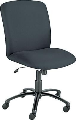 Safco Uber Big & Tall Fabric Executive Office Chair, Armless, Black (SAF3490BL)