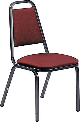 VIRCO® 8926 Armless Vinyl Upholstered Stack Chair, Burgundy