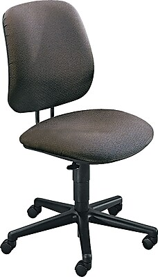 HON 7700 Series Fabric Computer and Desk Office Chair, Gray, Armless Arm (H7701HAB12T)
