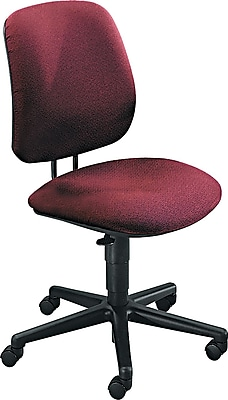 HON 7700 Series Fabric Computer and Desk Office Chair, Burgundy, Armless Arm (H7701AB62T)