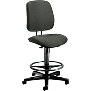 HON® 7700 Series Fabric Pneumatic Drafting/Task Stool, Gray
