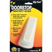 """Master Caster® Rubber Big Foot No Slip Doorstop, 1 1/4""""H x 2 1/4""""W x 4 3/4""""D, Beige"""