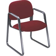 "HON® Solutions - 4000 Series Sled Base Guest/Side Chair, Fabric, Burgundy, Seat: 20""W x 18 1/4""D, Back: 21""W x 15""H"