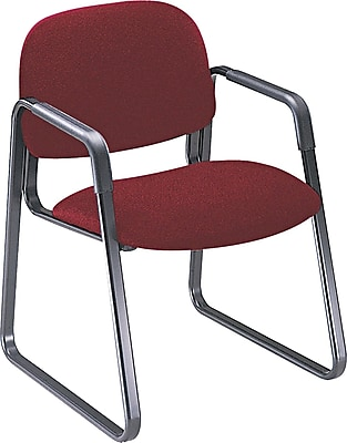 HON® Solutions - 4000 Series Sled Base Guest/Side Chair, Fabric, Burgundy, Seat: 20