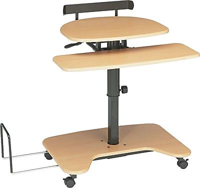 Balt ® Adjustable Pneumatic Workstations Laminate Workstation, Teak Black