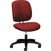 HON ComforTask Fabric Computer and Desk Office Chair, Armless, Burgundy (H5901AB62T.COM) NEXT2017