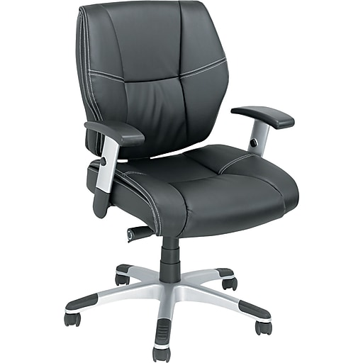 alera napoleon leather managers office chair adjustable arms black