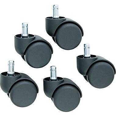 Master Caster ® Oversized Neck Dual Wheel Safety Caster, Black