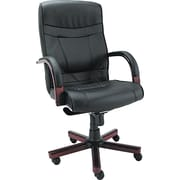 Alera Madaris Leather Executive Office Chair, Fixed Arms, Black (ALEMA41LS10M)