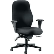 HON 7800 Series Fabric Computer and Desk Office Chair, Adjustable Arms, Black (H7808NT10T.COM)