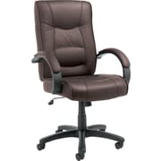 Alera Strada Leather Executive Office Chair, Fixed Arms, Brown (ALESR41LS50B)
