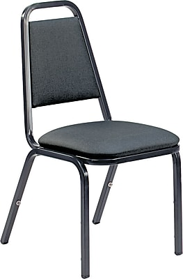 VIRCO® 8926 Armless Vinyl Upholstered Stack Chair, Black