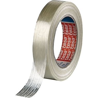 NOPI™ 60 yd (L) Clear Glass Fiber Polypropylene Strapping Tape, 3.80 mil (T), 3/4 in (W)