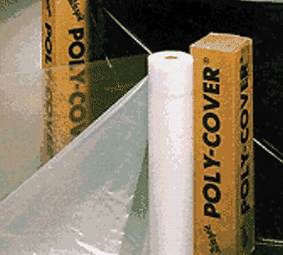 POLY-COVER® Warp's® Brothers 100 Feet (L) Clear Poly-Cover Plastic Sheet, 10 Feet (W) x 4 mm (T)