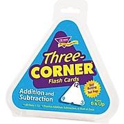 Trend Enterprises Three-Corner Math Flash Cards, Addition/Subtraction (T1670)