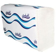 """Windsoft® Multi-Fold Paper Towels, Embossed, 1-Ply, 4,000/Ct, 250 Sheets per Pack, White, 9-1/8""""x 9-1/2"""" sheet size"""