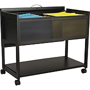 "Safco Scoot Mobile File Open-Drawer Vertical Cabinet, Locking, Legal, Black, 17"" (5353BL)"