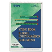 "TOPS® Steno Book, 6"" x 9"", Gregg Rule, Greentint, 60 Sheets/Pad (8001)"