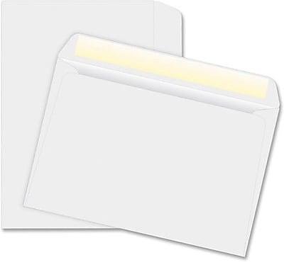 Quality Park Gummed Open Side Booklet Envelopes, 6