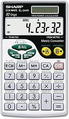 Wallet Calculator, Extra-Large Display, 10 Digit Screen, Metric Conversion, Solar Power, 2-3/4