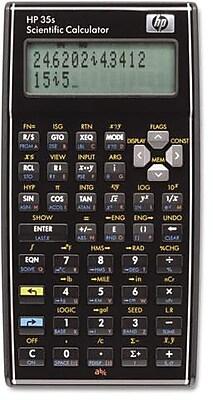 Hewlett Packard Scientific Calculator, 2-Line Display, Raised Edges, 100 Built-In Functions, Black