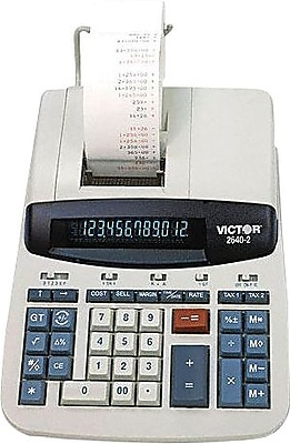 Victor® 2640-2 12-Digit Heavy-Duty Commercial Printing Calculator