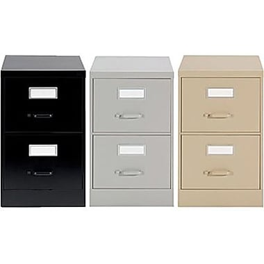Staples® Vertical Letter File Cabinets, 2-Drawer