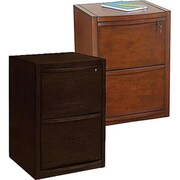 Staples® Deluxe Vertical Wood File Cabinets, 2-Drawer