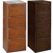 Staples® – Classeurs verticaux de luxe en bois, 4 tiroirs