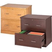 Staples® Wood Lateral File Cabinets, 2 Drawer