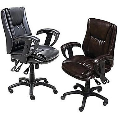 Staples® - Chaise multifonctionnelle en cuir de marque Staples
