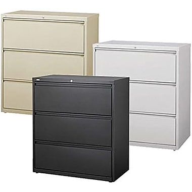 Hirsh HL 10000 Series Lateral File Cabinets, 3 Drawer