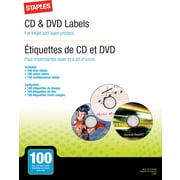 Staples® CD/DVD Labeling Refills, 100 Pack