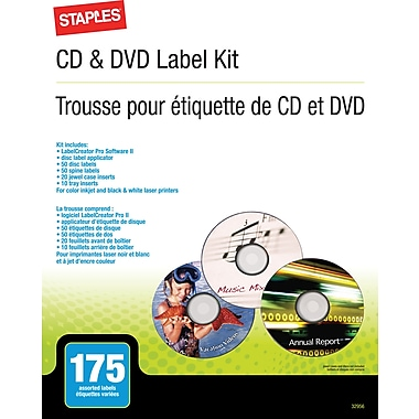 Staples® CD/DVD Label Kit
