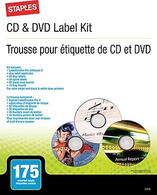 Staples® CD/DVD Label Kit