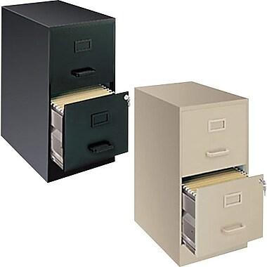 Hirsh - Classeurs verticaux de format lettre, 22 po de profondeur, 2 tiroirs