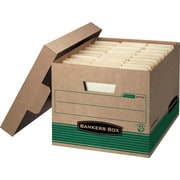 BANKERS BOX® Medium Duty 100% Recycled Stor/File® Storage Boxes, 12/Pack