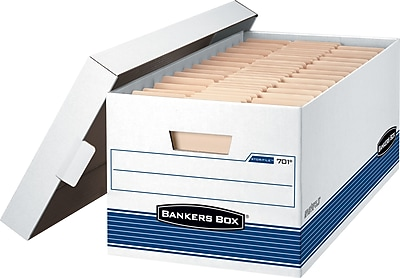 Bankers Box Stor/File Medium-Duty FastFold Storage Boxes with Lift-Off Lid, Letter, 4/Ct (0070104)