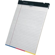 "Ampad® SimpleSort Crossover Writing Pad, Wide Ruled, White, 8-1/2"" x 11"""