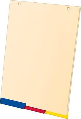 Ampad® SimpleSort Crossover Writing Pad Divider Refill, Manila, 8 1/2